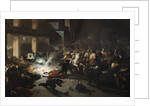 The Attempted Assassination of Emperor Napoleon III by Felice Orsini on the 14th January 1858, 1862 by H. Vittori Romano