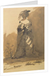 Woman Wearing an Overcoat and a Feathered Hat by Victor Hugo