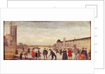 Skaters on the Seine in 1608 by Flemish School