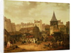 Rejoicing at Les Halles to Celebrate the Birth of Dauphin Louis of France 21st January 1781 by Philibert Louis Debucourt
