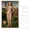 Vanity, central panel from the Triptych of Earthly Vanity and Divine Salvation by Hans Memling