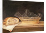 Basket of Glasses and a Meat Pie by Sebastian Stoskopff