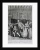 Le Baron...chassa Candide du Chateau a grands coups de pied dans le derriere by Jean Michel the Younger Moreau