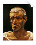 Head of a Shipwrecked Man, study for the Raft of Medusa by Theodore Gericault