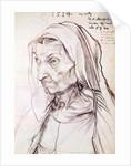 Portrait of the artist's mother by Albrecht Dürer or Duerer