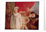 Actors of the Comedie Italienne by Jean Antoine Watteau