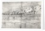 Study of a pediment from the Parthenon by Jacques Carrey