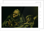 Two Old Men Eating, one of the 'Black Paintings' by Francisco Jose de Goya y Lucientes