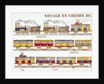Rail Travel in 1845 by French School
