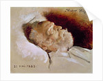 Portrait of Victor Hugo on his deathbed by Leon Daniel Saubes