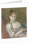 Young Girl with Cat by Berthe Morisot