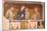 Virgin and Child with St. Francis and St. John the Evangelist by Pietro Lorenzetti