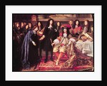 Jean-Baptiste Colbert Presenting the Members of the Royal Academy of Science to Louis XIV by Henri Testelin