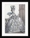 Woman wearing a stylish dress with her hair 'A la Victoire' by Claude Louis Desrais