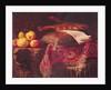 Still Life of Fruit and Musical Instruments by Antonio Pereda y Salgado