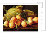 Still Life of Oranges, Melons and Boxes of Sweets by Luis Egidio Melendez