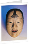 Noh theatre mask of a young boy called Kasshiki by Japanese School