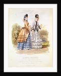 Fashion plate from 'Les Modes Parisiennes' by French School