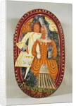 Marzipan box depicting a man and woman, c.1660 by German School