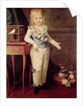 Portrait of a boy playing with a yo-yo (emigrette) by Elisabeth Louise Vigee-Lebrun