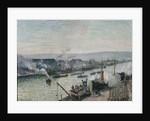 Saint-Sever Port, Rouen by Camille Pissarro