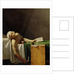 The Death of Marat, after the original by Jacques-Louis David by Jerome Martin Langlois