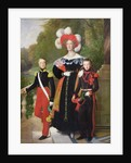 Marie Amelie of Bourbon-Sicile and her sons, Henri of Orleans Duke of Aumale and Antoine Duke of Montpensier by Louis Hersent