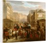 Descente de la Courtille, Belleville by Celestin Francois Nanteuil