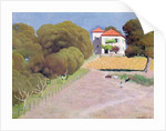 Landscape, The House with the Red Roof by Felix Edouard Vallotton