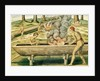 Indians Making a Dugout Canoe by Theodore de