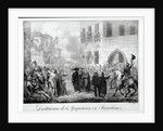 Destruction of the Inquisition in Barcelona by Hippolyte Lecomte