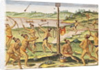 Indians Training for War by Jacques Le Moyne