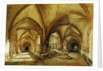 The Cloisters of St. Wandrille by Louis Eugene Gabriel Isabey