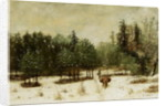 Entrance to the Forest in Winter. Snow Effect by Cherubino Pata