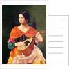 Young Woman with a Mandolin by Vekoslav Karas
