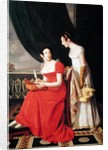 Madame Riesener and her Sister, Madame Longroy by Henri Francois Riesener