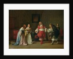 Mascarille Presenting Jodelet to Cathos and Madelon by Jean Hegesippe Vetter