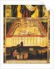 St. John of Rila Thaumaturge, detail of the funerary cortege leaving the Monastery of Rila by Master John of Samakov