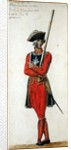 Musketeer from the time of Louis XV and Louis XVI by Pierre Antoine Lesueur