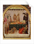 Curing the sick on the day of the death of St. Louis of Toulouse predella panel from the Altar of St. Louis of Toulouse by Simone Martini