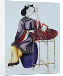 A Chinese Woman Arranging her Hair, Qianlong Period by Chinese School