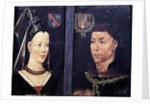 Double portrait of Charles le Temeraire Duke of Burgundy and his wife, Isabelle de Bourbon by Flemish School