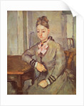 Madame Cezanne Leaning on a Table by Paul Cezanne