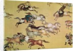 Voyage of Emperor Qianlong detail from a scroll, Qing Dynasty by Mou-Lan