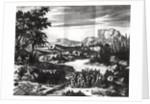 Construction of the 'Griffon' of Rene Robert Cavelier de la Salle on the shore of Lake Erie by Netherlandish School