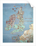 Map of Sixteenth Century Britain and Northern France by Giovanni de' Vecchi