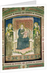 Madonna Enthroned with St. Francis of Assisi, St. Clare and Two Angels by Master of Figline