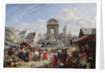 The Market and Fountain of the Innocents, Paris by John James Chalon