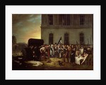 Burial of the Victims of the July Revolution in Front of the Colonnade of the Louvre by Jean Alphonse Roehn