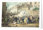 Defence of a Barricade by French School